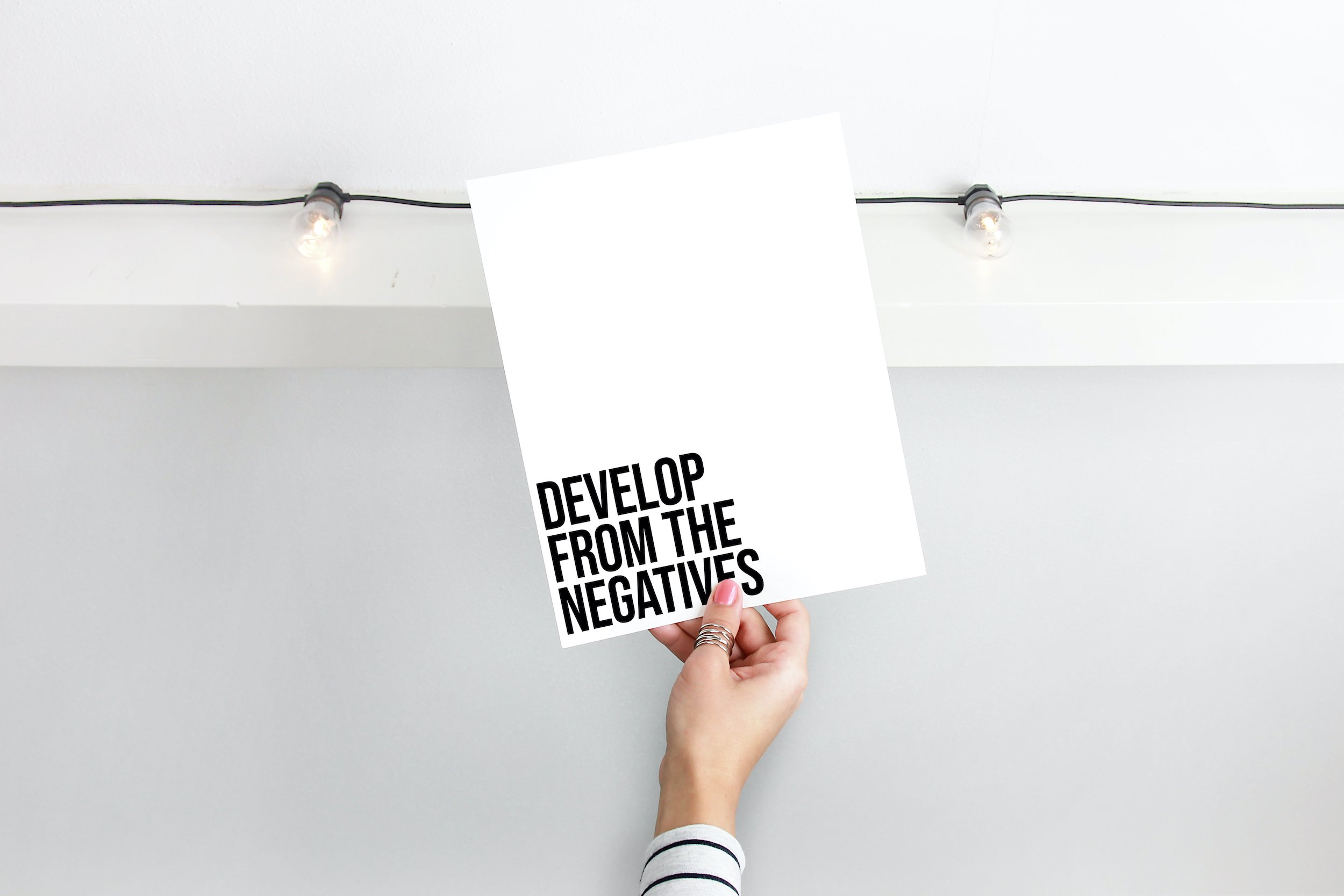 Develop from the negatives print