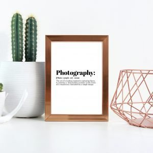 Photography Definition Print,
